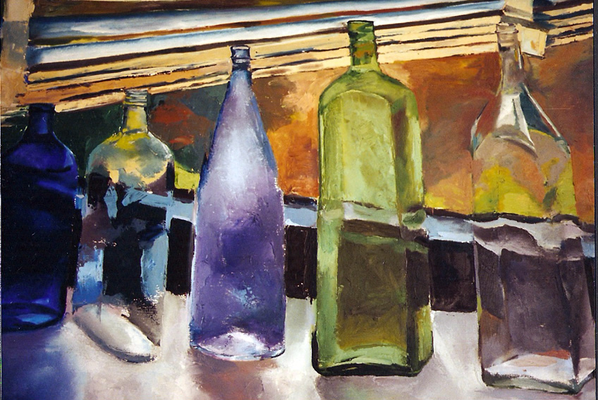 Bottles on a table 1992