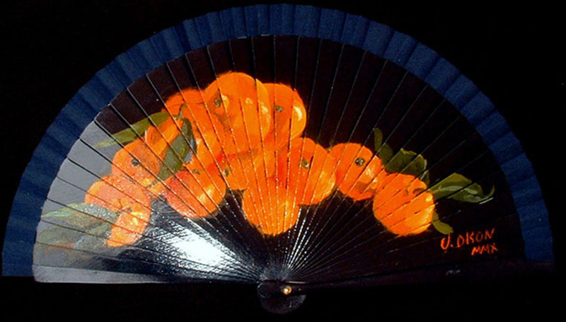 Oranges on Blue Fan 2010