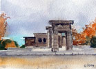 Templo de Debod Madrid Spain 2014