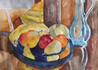 Fruit on Blue Plate November 2014
