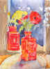 Flowers in Red Bottle 2015