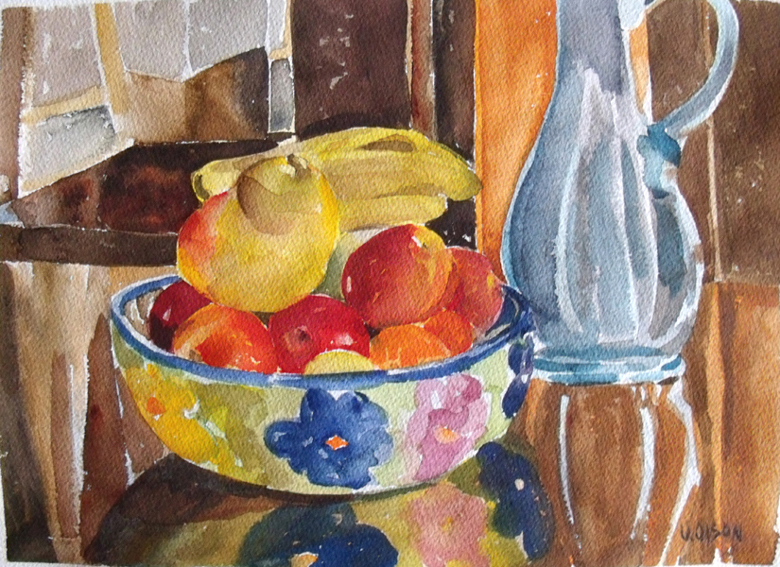 Fruit in Ceramic Bowl 2014